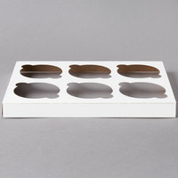 Southern Champion 1010 Cupcake Insert - Standard - Holds 6 Cupcakes - 10/Pack