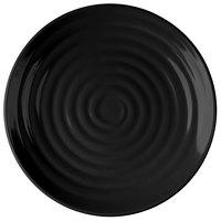 GET ML-81-BK Milano 9 1/2 inch Black Melamine Round Plate - 12/Pack