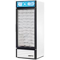 True GDIM-26NT-LD White Tankless Glass Door Ice Merchandiser - 26 cu. ft.