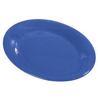Carlisle Durus 12 inch 4308214 Ocean Blue Oval Melamine Platter - 12/Case