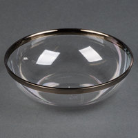 Sabert IMB144S 10 oz. Clear Bowl with Silver Rim - 144 / Case