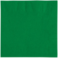 Choice 10 inch x 10 inch Green 2-Ply Beverage / Cocktail Napkins - 250 / Pack