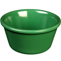 Green 2.5 oz. Smooth Melamine Ramekin - 48/Case