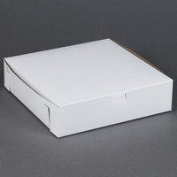 10 inch x 10 inch x 2 1/2 inch White Cake / Bakery Box - 250 / Bundle