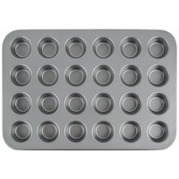 24 Cup Steel Non-Stick Mini Muffin Pan 1 oz.