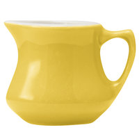 Hall China 30195W320 Sunflower 3.5 oz. Empire Creamer - 24/Case