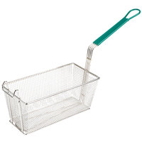 13 inch x 6 1/2 inch x 6 inch Fryer Basket with Front Hook
