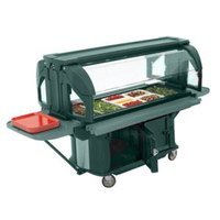 Cambro VBRU6519 Kentucky Green 6' Versa Food / Salad Food Bar with Storage and Standard Casters