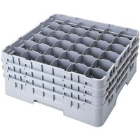 Cambro 36S434151 Soft Gray Camrack 36 Compartment 5 1/4 inch Glass Rack