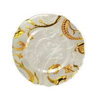 10 Strawberry Street GIARDN-340 13 1/4 inch Giardino Nouve Glass Charger Plate