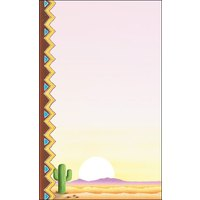 8 1/2 inch x 14 inch Menu Paper - Southwest Themed Cactus Design Left Insert - 100/Pack