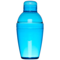 Fineline Quenchers 4102-BL 10 oz. Blue Plastic Shaker - 24/Case