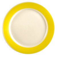 CAC R-16 YWL Rainbow Dinner Plate 10 1/2 inch - Yellow 12/Case