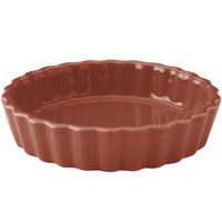 Hall China 30864334 Paprika 8 oz. Colorations Round Fluted Souffle / Creme Brulee Dish - 24/Case