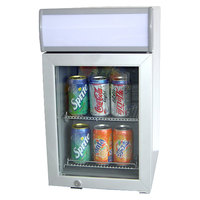 Excellence SC-22 White Countertop Display Refrigerator with Swing Door - 0.8 cu. ft.