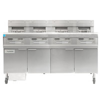 Frymaster FPGL430-2RCA Liquid Propane Floor Fryer with Three Full Left Frypots / One Right Split Pot and Automatic Top Off - 300,000 BTU