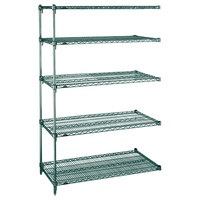 Metro 5AA577K3 Stationary Super Erecta Adjustable 2 Series Metroseal 3 Wire Shelving Add On Unit - 24 inch x 72 inch x 74 inch