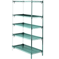 Metro 5AA367K3 Stationary Super Erecta Adjustable 2 Series Metroseal 3 Wire Shelving Add On Unit - 18 inch x 60 inch x 74 inch
