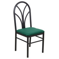 Lancaster Table & Seating Green 4 Spoke Restaurant Dining Room Chair with 1 3/4 inch Padded Seat