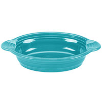 Homer Laughlin 587107 Fiesta Turquoise 17 oz. Oval Baker - 4 / Case