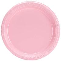 Creative Converting 28158011 7 inch Classic Pink Plastic Plate - 240 / Case