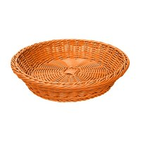 GET WB-1502-OR 11 1/2 inch x 2 3/4 inch Designer Polyweave Orange Round Basket - 12/Case