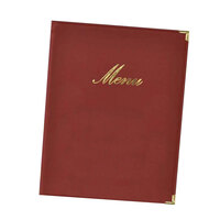 American Metalcraft MCCRLSWR Wine Red Securit Classic Menu Holder