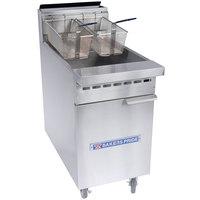 Bakers Pride BPF-3540 Restaurant Series Liquid Propane 35-40 lb. Floor Fryer - 76,000 BTU