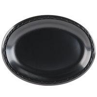 Genpak LAM11-3L Elite 8 1/2 inch x 11 1/2 inch Laminated Black Foam Platter - 125 / Pack