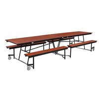 National Public Seating MTFB12 12 Foot Mobile Cafeteria Table with MDF Core