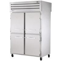 True STR2RPT-4HS-2G-HC Specification Series 52 5/8 inch Half Solid Front, Glass Back Door Pass-Through Refrigerator