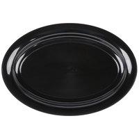 Fineline 3511-BK Platter Pleasers 11 inch x 16 inch Black Plastic Oval Tray - 25/Case