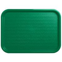 Carlisle CT121609 Cafe 12 inch x 16 inch Green Standard Plastic Fast Food Tray