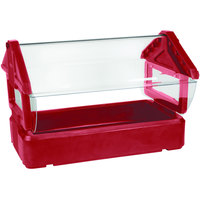 Carlisle 660005 Red 4' Six Star Tabletop Food / Salad Bar with Sneeze Guard