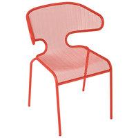 BFM Seating DV360GE Maze Grenadine Stackable Steel Outdoor / Indoor Armchair