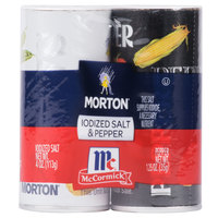 Morton Disposable Salt and Pepper Shaker Set   - 12/Case