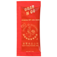 Huy Fong 7 Gram Sriracha Hot Chili Sauce Packets   - 200/Case