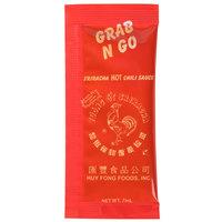 Huy Fong 7 Gram Sriracha Hot Chili Sauce Packets   - 200/Case