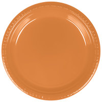 Creative Converting 324810 9 inch Pumpkin Spice Plastic Plate - 240/Case