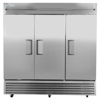 True TS-72-HC 78 1/8 inch Solid Door Reach-In Refrigerator