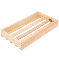 American Metalcraft WCNL 17 3/8 inch x 9 inch x 2 3/8 inch Natural Large Wood Crate