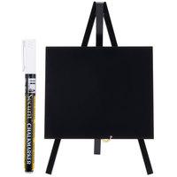 American Metalcraft MNIBLKR1 Black 6 inch x 10 inch Mini Tabletop Chalkboard