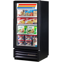 True GDM-10F-LD Black Glass Door Merchandiser Freezer with LED Lighting - 10 Cu. Ft.