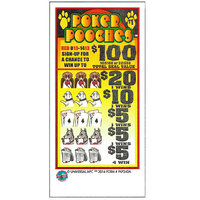 Poker Pooches 5 Window Pull-Tab Tickets - 480 Tickets Per Deal - $317 Total Payout