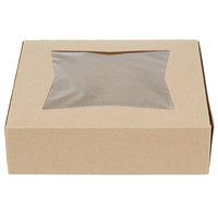 Southern Champion 24133K 9 inch x 9 inch x 2 1/2 inch Kraft Auto-Popup Window Pie / Bakery Box - 200/Case