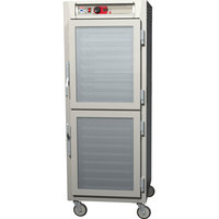 Metro C589-SDC-LPDS C5 8 Series Reach-In Pass-Through Heated Holding Cabinet - Clear Dutch / Solid Dutch Doors