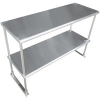 Advance Tabco EDS-18-72 Stainless Steel Double Deck Knock Down Overshelf - 72 inch x 18 inch