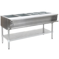 Eagle Group AWT4-1 Gas Eight Pan Sealed Well Water Bath Steam Table with Galvanized Legs