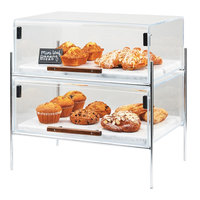 Cal-Mil 3706-1511-49 Mid-Century 16 1/4 inch x 11 1/4 inch x 18 inch Pastry Case with Chrome Frame