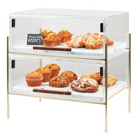 Cal-Mil 3706-1511-46 Mid-Century 16 1/4 inch x 11 1/4 inch x 18 inch Pastry Case with Brass Frame